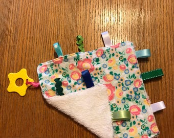 Baby Tag Along Blankets/taggie blankets