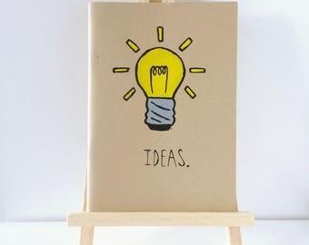 Hand Painted 'Ideas' Sketchbook