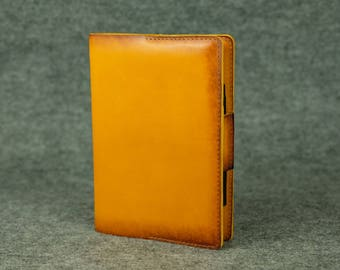 Leather notebook cover A5 / Italian leather cover, Notebook organizer, A5 notebook cover, Leather notebook journal, Leather notebook case