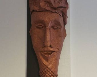 African Origami Mask