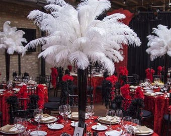Ostrich feather centerpiece wedding