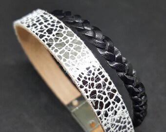 """CRACKLE"" leather strap"