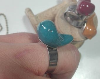 Ceramic bird ring