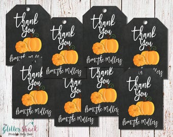 PRINTABLE Fall Thank You Tags, Pumpkin Thank You Tags, Halloween Thank You Tags, Fall Festival, Halloween Party, Fall Party, Autumn Party