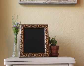 Swirled Gold Framed Chalkboard