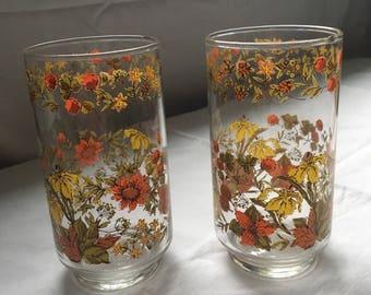 1960's Vintage Glasses ( set of 2)