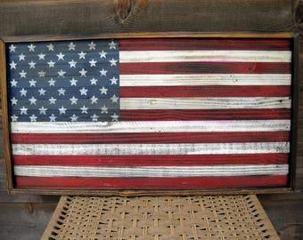 Wood American Flag, Rustic Wood American Flag, American Flag, American Flag Art, 4th of July, Reclaimed Wood