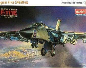 SPRINGSALE Vintage 1990 unopened plastic model kit 1/48th scale Academy F-111E Aardvark Bomber