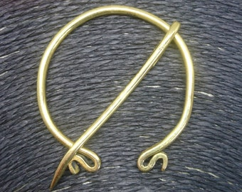 Nordic Fibula, Brass Fibula, Viking Brooch
