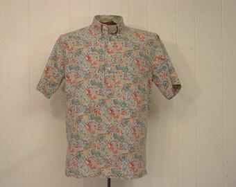 Vintage shirt, Hawaiian shirt, 1980s shirt, vintage clothing, Reyn Spooner shirt, medium
