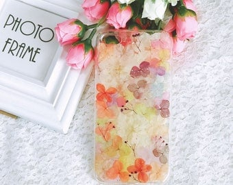Handmade pressed flowers cellphone Silicone soft case for iphone 10 iphone X iphone 8plus 7plus colorful new design flowers case cover