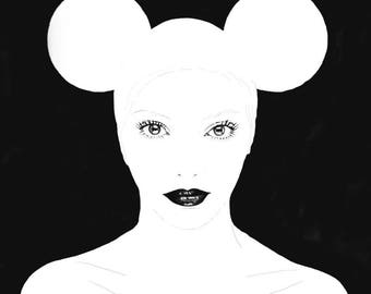 Ears- 2x3 ft print of original artwork by Brandy Mars