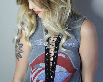 Laced Up Rolling Stones Tank Top