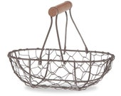 Small Rust Colored Wire Baskets, Chicken Wire Basket, Flower Girl