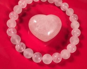 Rose Quartz 8mm Bracelet