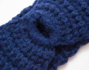 Headwraps | Black Messy Bun Earwarmer, Knitted Headband, Headband Winter Knit, Knit Ear Warmer, Wide Headband, Wide Headband Boho, Winter