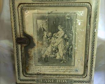 Antique Schepp's Cake Tin Box