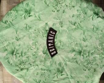 Seitanic vegan seitan embroidered patch iron on