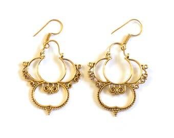 Brass Dangle & Drop Earrings  Earrings Tribal Gypsy Earrings Boho Earrings Indian Jewelry
