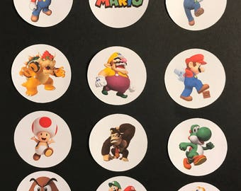 Precut Edible Mario Brothers Character Images for cakes, cupcakes and cookies