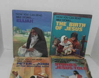 1984 Now You Can Read....Grolier Children's Bible Story Picture Books - 4