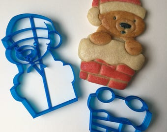 Santa Bear Cookie Cutter Set