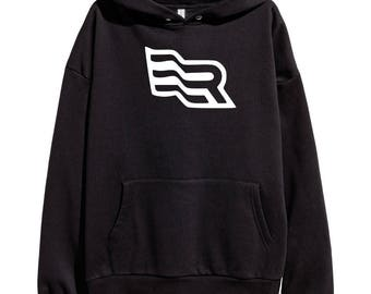 Eminem Revival Flag White Logo Hoodie Classic Hip Hop Rap Style Sweatshirt Revival Slim Shady Records Aftermath Entertainment Detroit