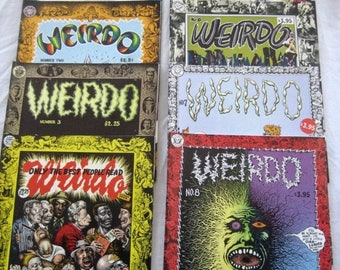 Christmas In July Sale Weirdo Underground Comics,#1 - #8, You choose, #1 is First Printing, Adult content, Over age 18, Vintage 1980's, Robe