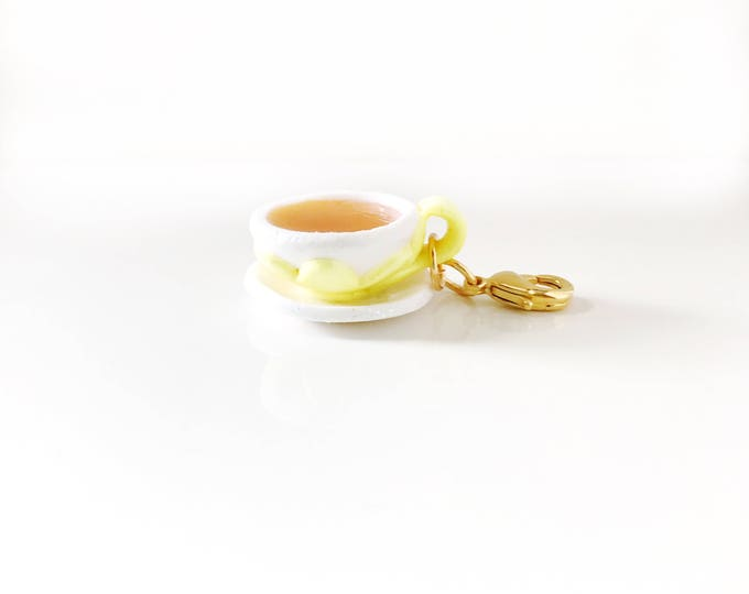 Herbal Tea, Miniature Food Jewelry, Handmade Polymer Clay Charm, Progress Keeper, Bracelet Charm