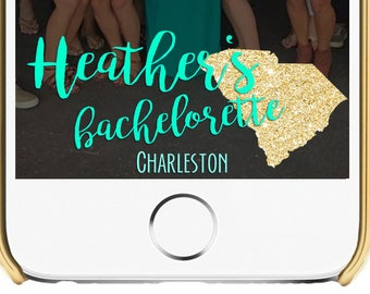 State Cutout Bachelorette Snapchat Filter - Pick your colors, font and text! 1080