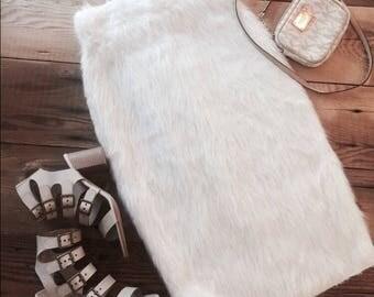 Gorgeous faux fur pencil skirt!
