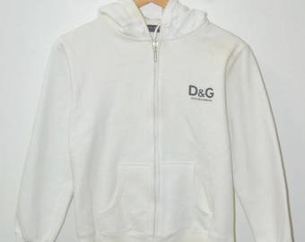 Vintage Dolce Gabbana D&G logo hoodie italy