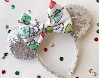 Christmas Light Sequins Mouse Ears