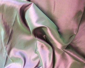 High quality taffetas fabric, green/lilac
