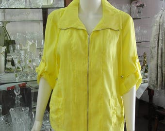 Erin London Bright Yellow Summer Weight Jacket