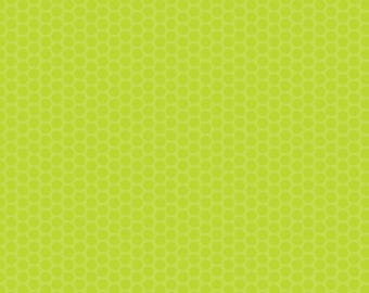 Lime Dot Fabric - Riley Blake Honeycomb Dot - Green on Green Dot Fabric