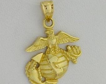 Eagle globe anchor coasters set of four 14k yellow gold estate usunited states marine eagle globe anchor pendant aloadofball Images