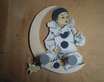 RACK NURSERY CHILDREN PIERROT MOON