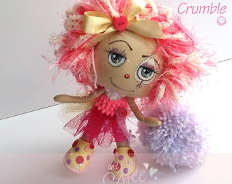 Claudia Crumble, Cute clown, collectable cloth art doll