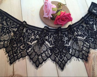 3 m * 18cm REF 1003 black CHANTILLY lace