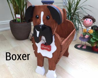 BOXER,wooden,garden,planter,garden,ornament,decoration,name tag,custom made,