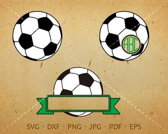 Soccer Monogram SVG with Circle Font, Soccer Clipart Shirt SVG Silhouette Cricut Cut Files (svg, dxf, eps, png, jpg, pdf)