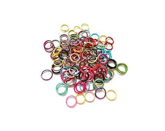 100 of jump rings open 6 mm