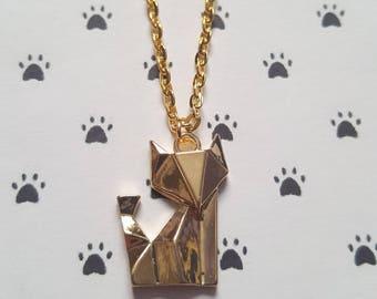 Origami fox necklace, Fox necklace, Pendant necklace, Animal jewellery, Origami jewellery, Quirky jewellery, Nature, Animal, Fox
