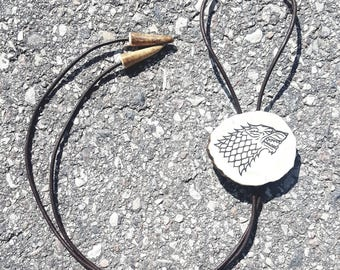 Game of Thrones Jewelry Gift Winter Is Coming House Stark Necklace Wolf Pendant Fan Gift Winterfell Game Of Thrones Presents For Men