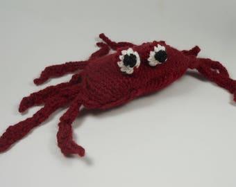 Crab stuffed animal   Knit toy   Handmade toy   Wool toy   Knit stuffed animal   Crab toy