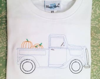 Sweet and stitchy pumpkin truck