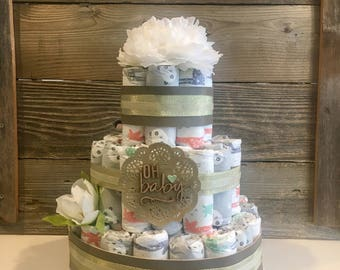 Earthy Honest Company Diaper Cake