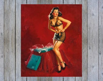I Must Be Going to Waist - 1946 Gil Elvgren vintage pin up art poster print