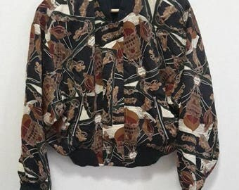 50% SALE Baroque Fullprint cropped bomber jacket by Object Collection